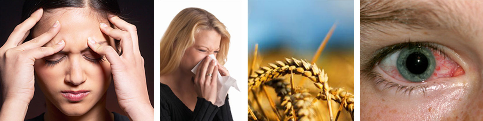 image women, sneezing, eye irritation